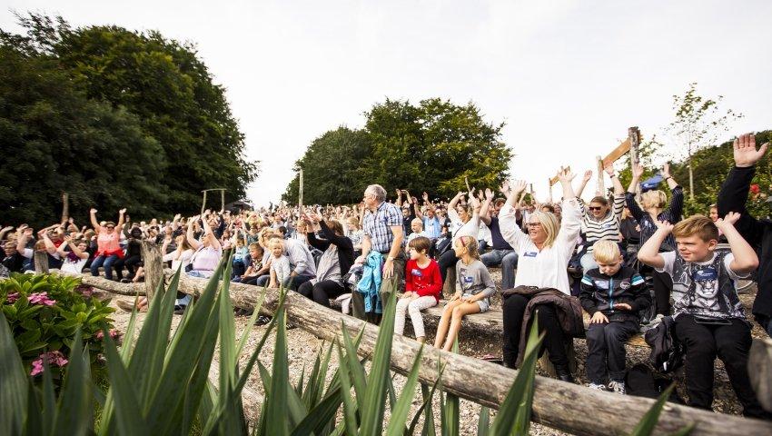 Begejstrede deltager i Ree Park Safari