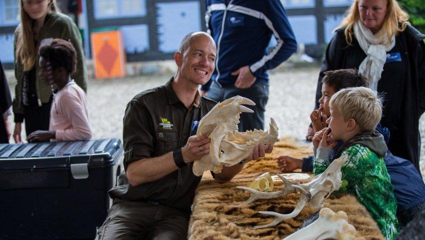 Medarbejdere fra Knuthenborg Safaripark gav plejebørn læring med på vejen