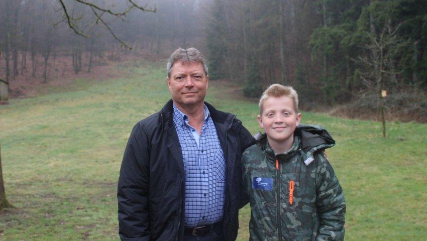 Plejefar Klaus Karstensen og plejesøn Peter