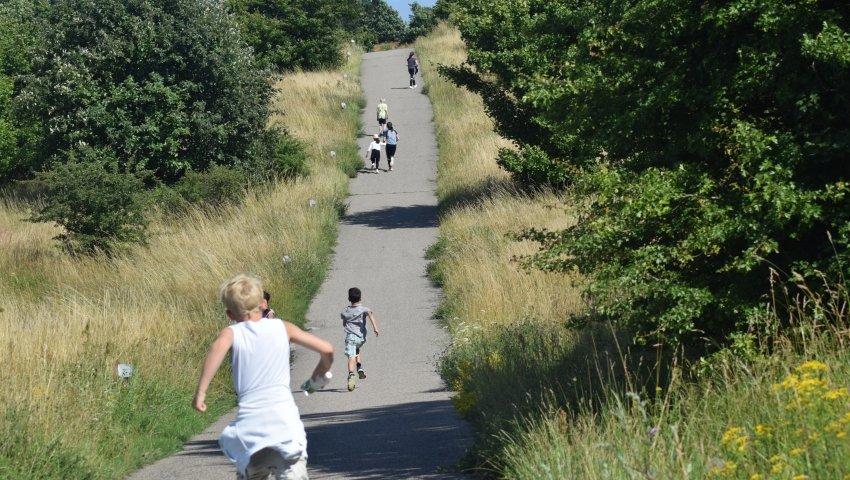 Anbragte børn på løbetur i Ebeltoft