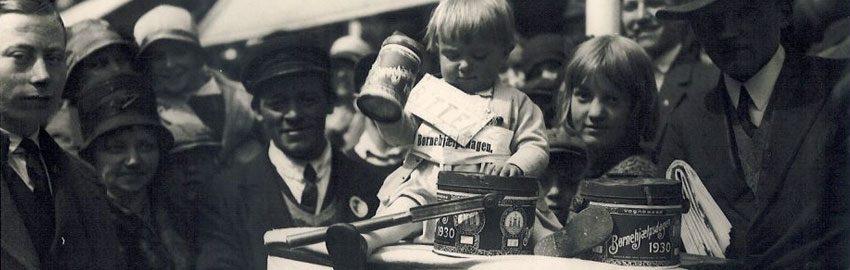 Gammelt billede fra Børnehjælpsdagen