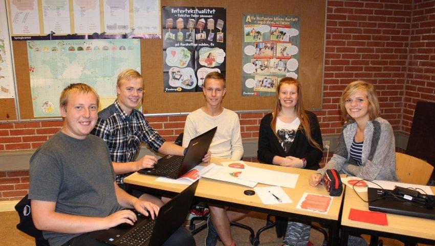 Elever fra 9z på Bogø Kostskole