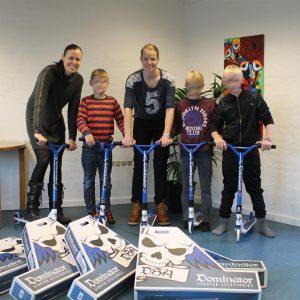 Børnehjælpsdagens projekt Drømmebanken med løbehjul