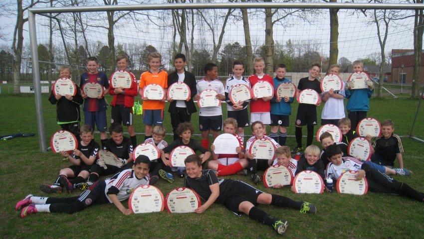 Gruppebillede U12-fodboldhold fra Gauerlund IF