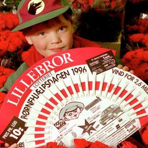 PR for Lillebror Lotteriet i 1996.