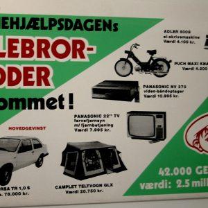 Reklame for Lillebror Lotteriet i 1970'erne.