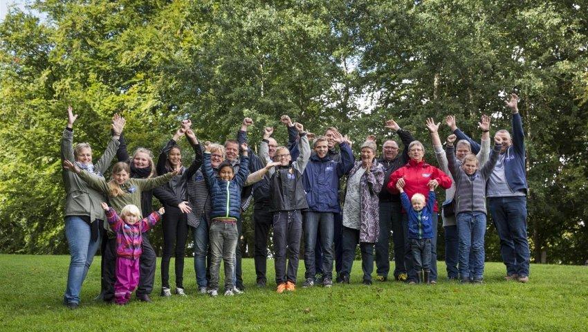 Gruppefoto af deltagere