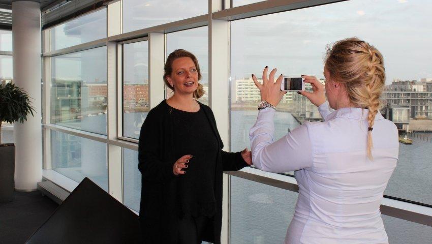 Ida Lissau på besøg hos Telenor