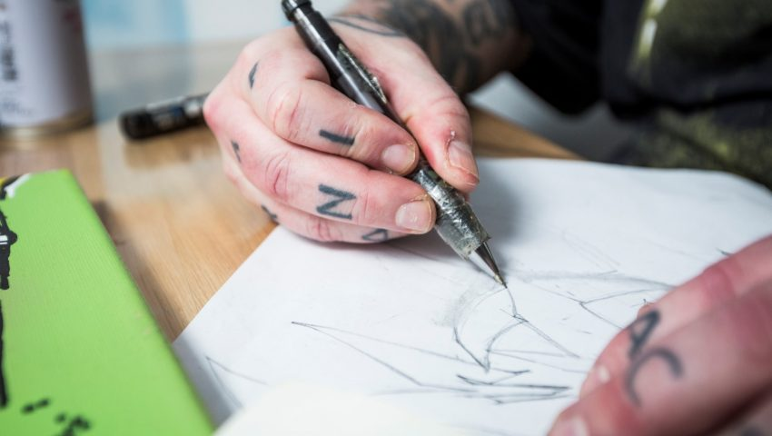 L_Ron_Harald_graffiti-Boernehjaelpsdagens-aarsplakat-2017-3