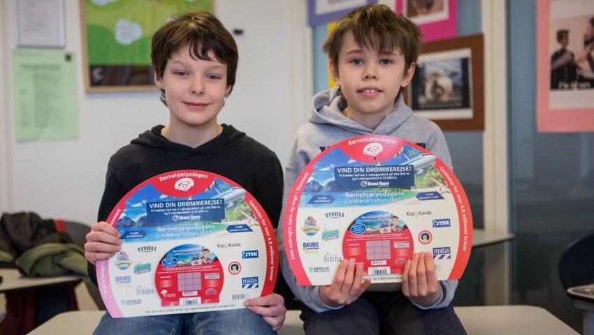 f6b0c657 De to skoledrenge Anton og Arvid var med til at sikre Sankt Joseph Institut  på Østerbro en samlet indtjening på 100.963 kroner ved sidste års Lillebror  ...