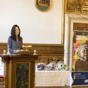 Socialborgmester Mia Nyegaard til prisuddeling på Københavns Rådhus