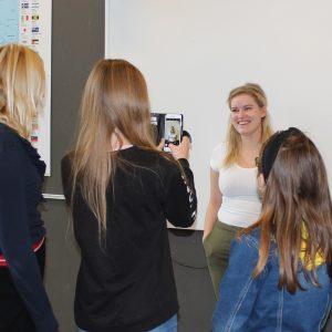 Sara besøger Ungdomsværnet på Holbergskolen