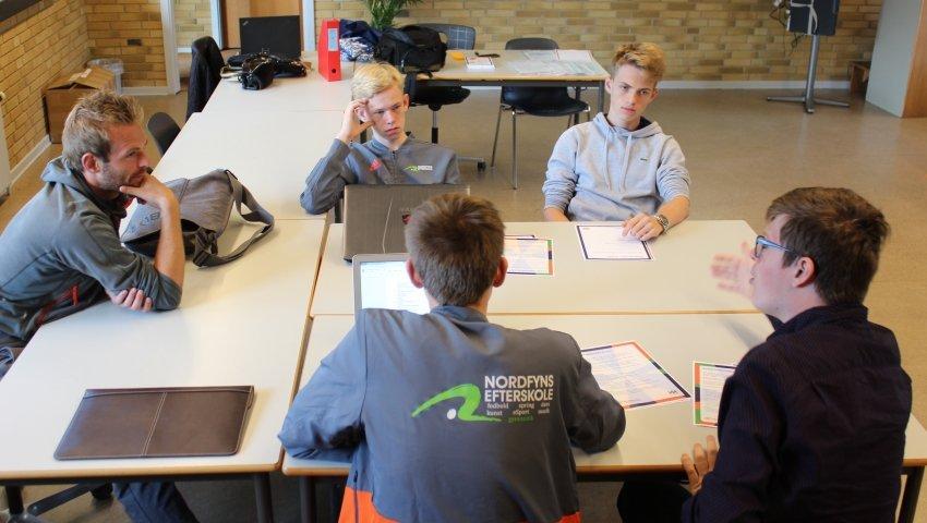 Ungdomsværn: Elever fra Nordfyns Efterskole