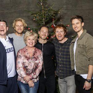 Holdet af kendisser til julefest på Danmarks Borgcenter i Vordingborg