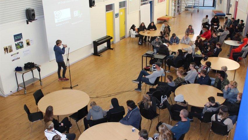 Ungdomsværn: Elever fra IUC Herning
