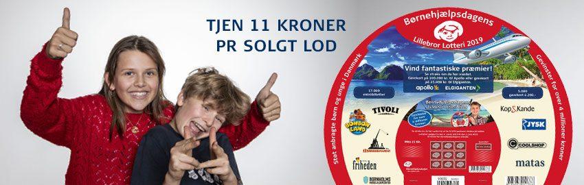 Sælg skrabelodder og tjen penge med Lillebror Lotteriet 2019