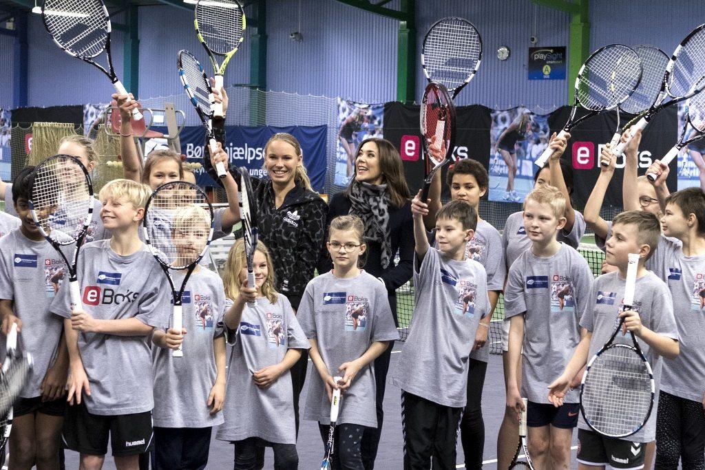 Børnehjælpsdagens arrangement for anbragte børn med Kronprinsessen og Wozniacki