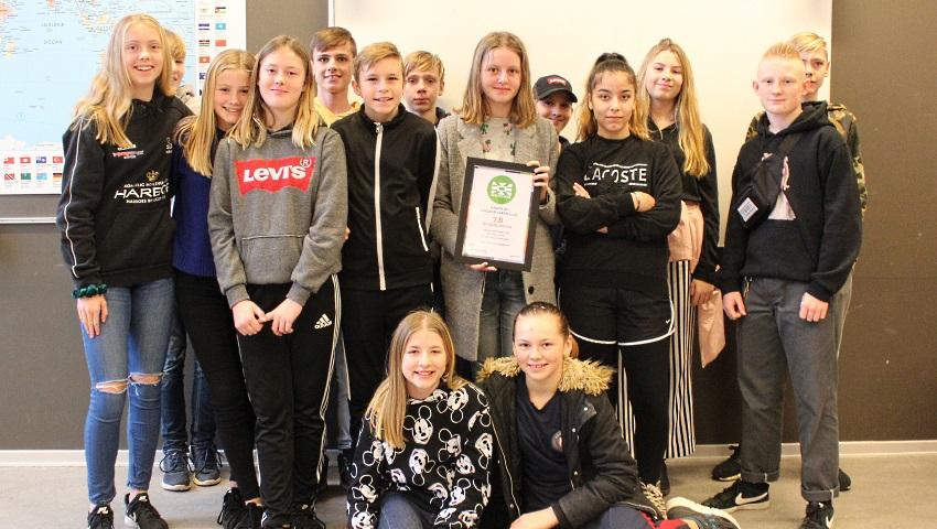 7.B på Holbergskolen i Dianalund vinder Ungdomsværn 2018