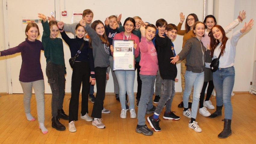 Ungdomsværn 2020: 5. klasse fra Carolineskolen er bedst til at støtte anbragte børn