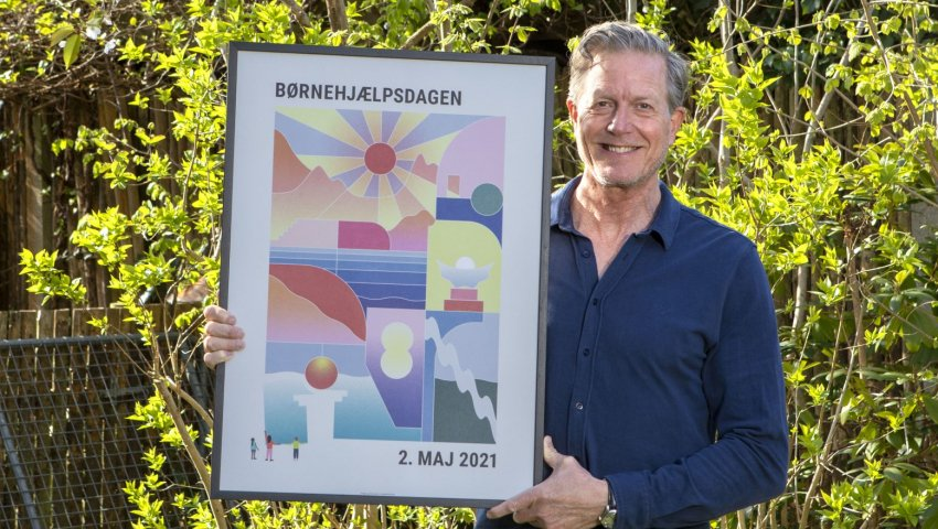 Årets Børnehjælpsdag 2021 - online - Peter Mygind med årsplakat